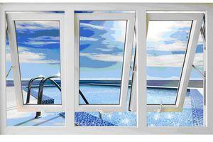 Cửa sổ mở hất 3 cánh