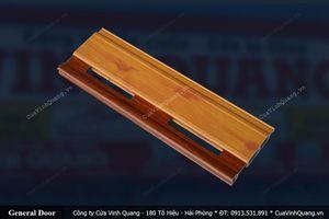 Cửa cuốn siêu thoáng Vân gỗ